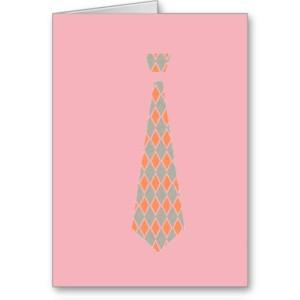 TIE (orange argyle/pink)