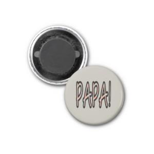 PAPA MAGNET (orange argyle with grey)