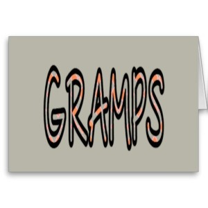 GRAMPS (orange argyle with grey)