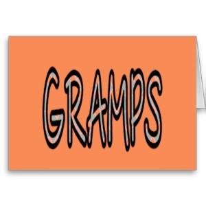 GRAMPS (orange argyle with orange)