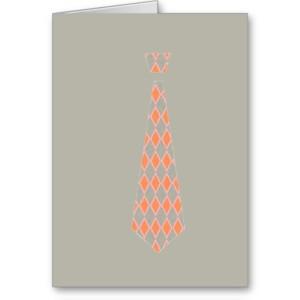 TIE (orange argyle/grey)