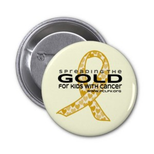 PEDIATRIC CANCER AWARENESS BUTTON