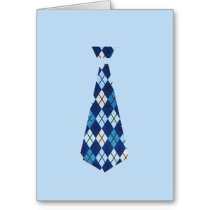 TIE (blue argyle)