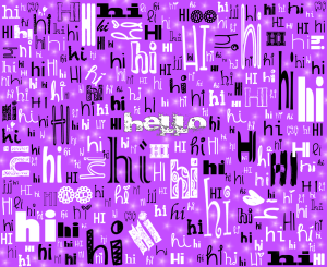 A SIMPLE HELLO (lilac)