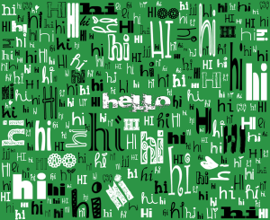 A SIMPLE HELLO (green)