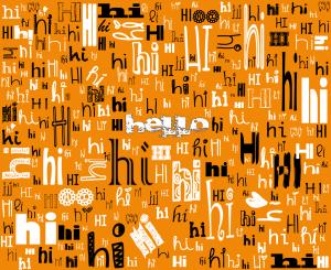 A SIMPLE HELLO (orange)