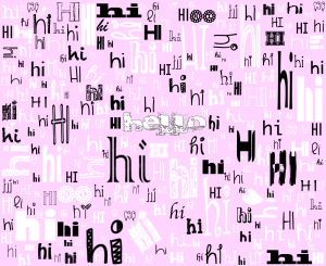 A SIMPLE HELLO (pink)