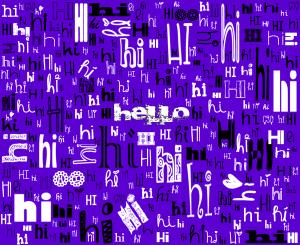 A SIMPLE HELLO (purple)